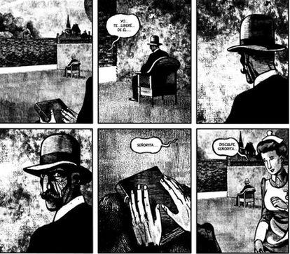 Página de <i>La protectora,</i> de José Antonio Godoy, <i>Keko</i>.