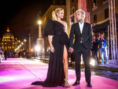 Chiara Ferragni y su esposo Fedez, en Milán.
