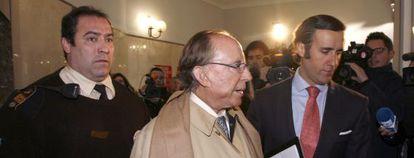 El empresario José María Ruiz-Mateos a su llegada a los juzgados de Palma.