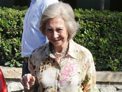 La reina Sofía, el 26 de julio de 2019 en Mallorca.