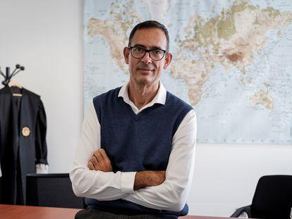Tomás Luis Martín, el pasado jueves en su juzgado de Las Palmas de Gran Canaria.