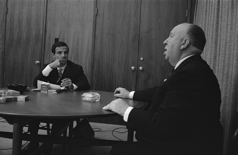 François Truffaut y Alfred Hitchcock, en su famosa entrevista en 1962.