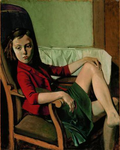 'Thérèse', cuadro de Balthus de 1938.