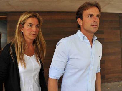 Arantxa Sánchez Vicario y Josep Santacana, cuando eran matrimonio.