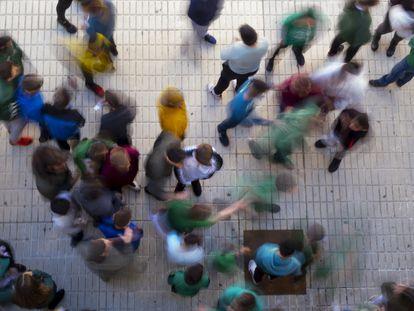 Alumnos de un instituto público de Sevilla.