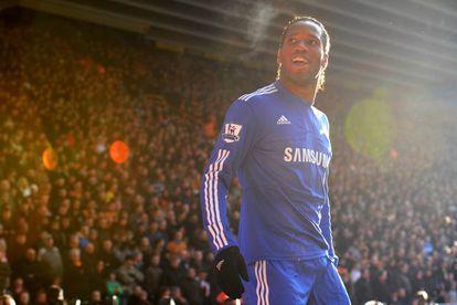 Didier Drogba celebrando un gol en 2010.