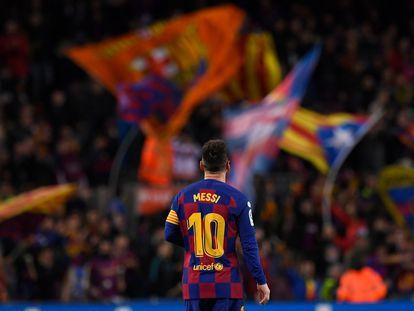 Lionel Messi en un partido del FC Barcelona en el Camp Nou, en Barcelona, en noviembre de 2019.