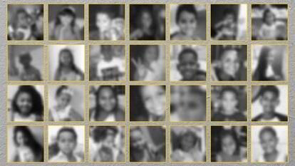 Niños víctimas de la policía en Brasil.