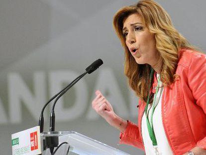 La socialista Susana Díaz, este sábado en el congreso del PSOE.