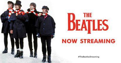 El cartel promocional de la llegada de los Beatles al 'streaming'.