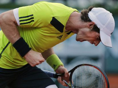 Murray celebra un punto ante Monfils