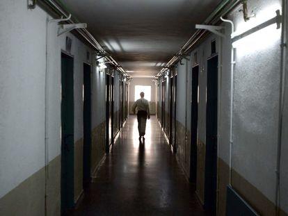 Pasillo de uno de los módulos de la cárcel de Nanclares de Oca (Álava).