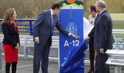 Rajoy, este lunes, en la inauguración de una autovía.