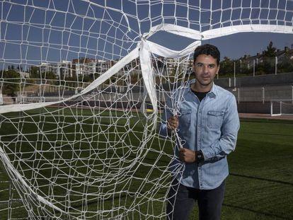 El entrenador del Rayo Vallecano, Míchel, en la Ciudad Deportiva del club.