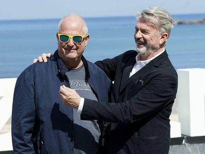 Roger Mitchell y Sam Neill, en San Sebastián.
