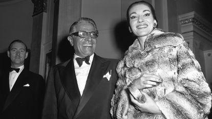 María Callas con el armador griego Aristóteles Onassis.