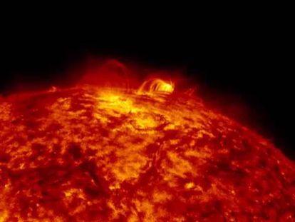 Las llamaradas solares, al milímetro
