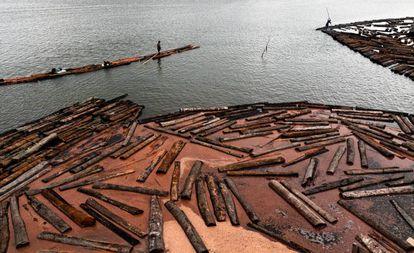 Zona desertificada del Amazonas en Colombia.