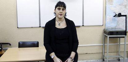 Inmaculada, profesora ciega de la Escuela Oficial de Idiomas de Madrid, denuncia que no la han puesto profesor de apoyo.