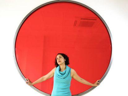 La artista La Lá, en su visita a Madrid.