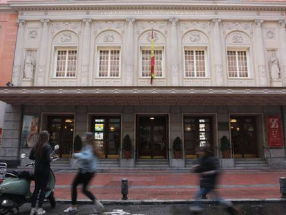Fachada del madrileño Teatro de La Zarzuela.