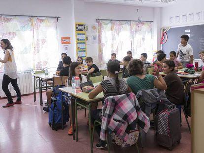 Inauguración del curso escolar en un colegio madrileño.
