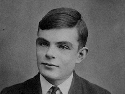 Alan Turing, de joven.