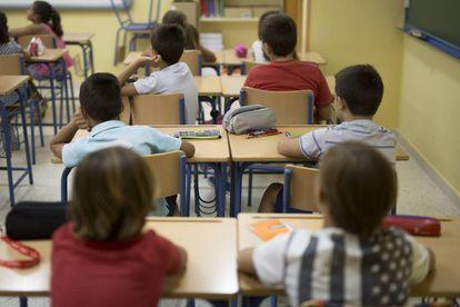 Alumnos de un colegio de Sevilla.
