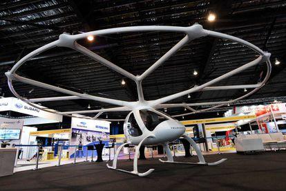 El Volocopter 2x, presentado en una reciente feria en Singapur.
