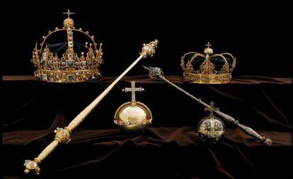 Las coronas robadas de los reyes de Suecia del siglo XVII.