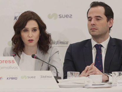 Isabel Díaz Ayuso e Ignacio Aguado, en una imagen de archivo. En vídeo, las declaraciones de ambos sobre el fichaje de Miguel Ángel Rodríguez.