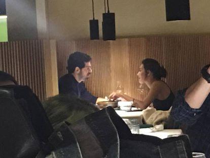 Miguel Ángel Muñoz y Ana Guerra, el viernes en Madrid.