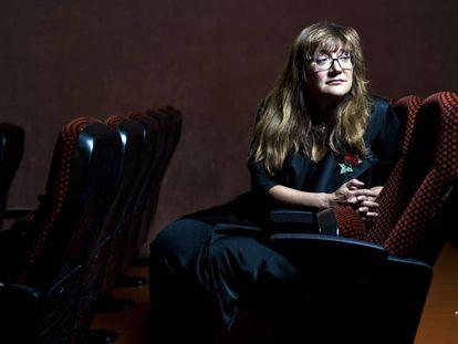 La directora Isabel Coixet en los cines Verdi de Madrid.