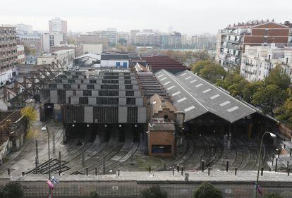Foto de las cocheras de Metro en Cuatro Caminos tomada en 2016.