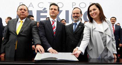 Firma del pacto por México.