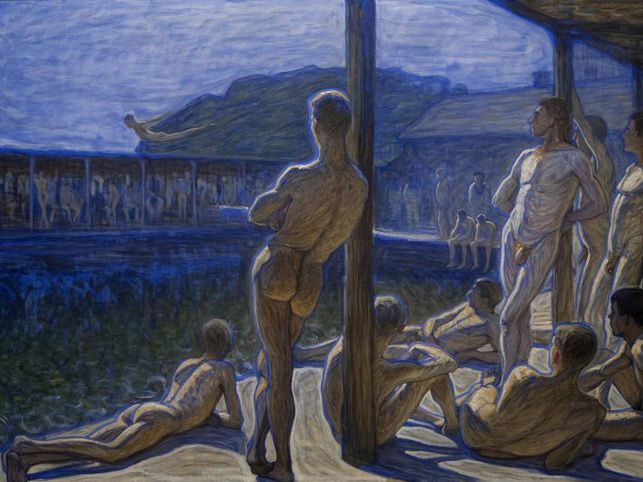 'The Marine Bath House', pintura de 1907 que refleja, todavía un siglo después, la existencia libre de tecnología y de imperativos sociales que existe en las saunas.