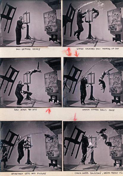 Los contactos y la fotografía <i>Dali-Atomicus</i>, de Philippe Halsman.