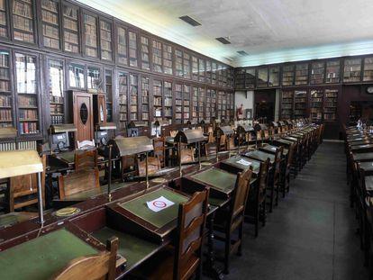 Interior de la biblioteca del Ateneo de Madrid, en abril del año pasado.