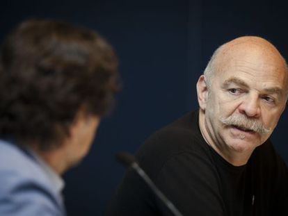Martín Caparros, durante la presentación de su libro en al FIL