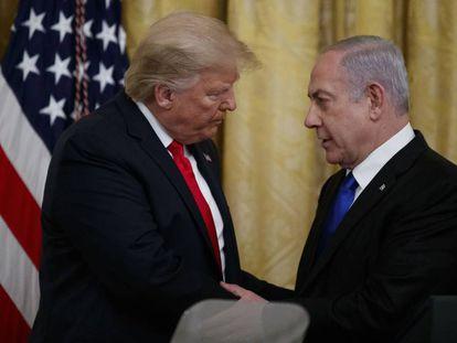 Donald Trump y Benjamin Netanyahu, el pasado 28 de enero en la Casa Blanca.