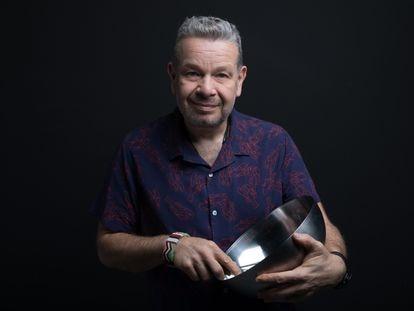 El cocinero Alberto Chicote, en los estudios de Atresmedia presentando la séptima temporada de su programa 'Pesadilla en la cocina'.
