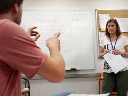 Curso para profesores de español en la escuela International House, en Madrid.