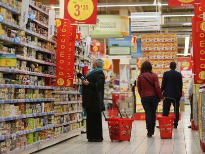 Un supermercado Alcampo en Vigo