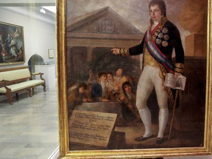Copia del retrato que hizo Goya de Godoy, hecha por Agustín Esteve.