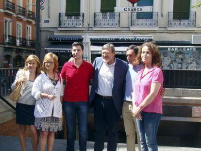 Jaime Lissavetzky durante la visita a Chueca con motivo del inicio del Orgullo LGTB en Madrid.