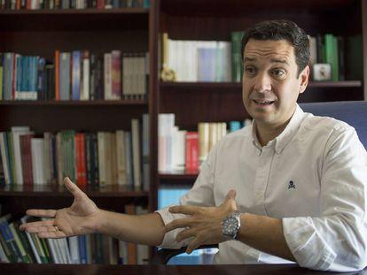 Manuel Ricardo Torres Soriano, durante la entrevista.
