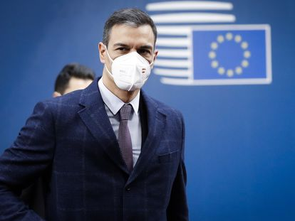 El presidente del Gobierno, Pedro Sánchez, este martes en Bruselas.