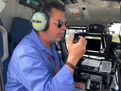 Diego Miralles, el director de cámaras especiales de Mediapro, que trabaja con LaLiga para retransmitir los partidos de LaLiga Santander y de LaLiga SmartBank.
