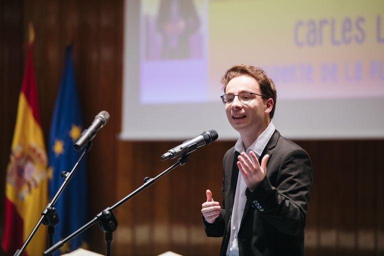 Carles López, representante de los estudiantes en el Consejo Escolar del Estado.