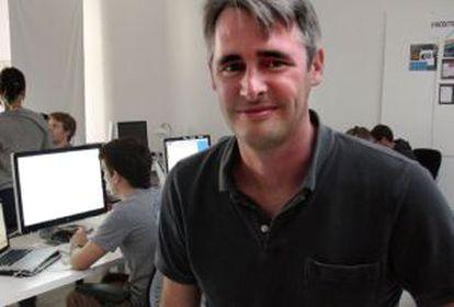 Mike McCue, en su oficina de Palo Alto